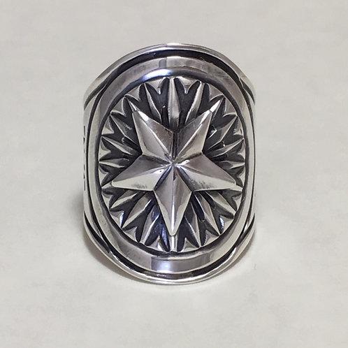Navajo Sterling Silver Star Design Ring