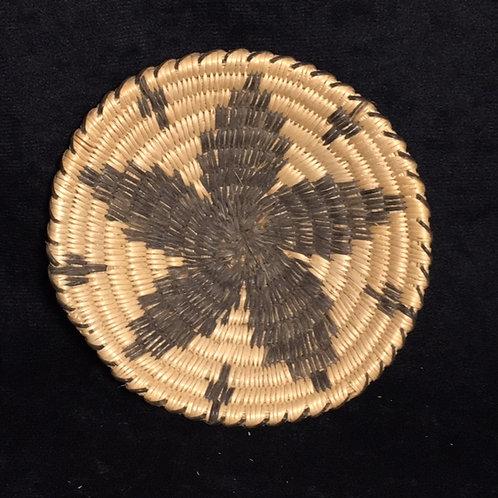 "Pima Flower Woven Basket 4 3/4"""