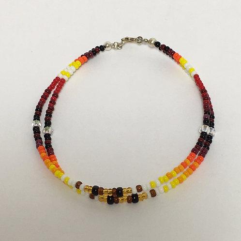 Navajo Native Beaded Wire Bracelet