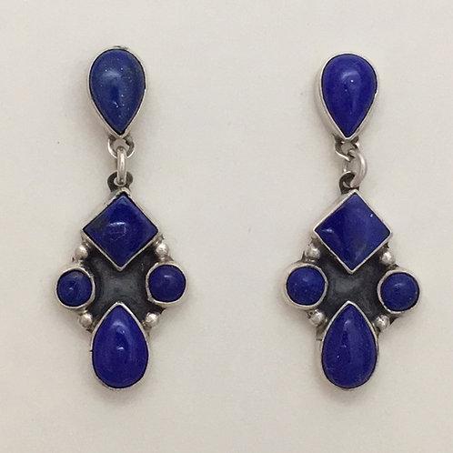 Navajo Sterling Silver Lapis Post Earrings