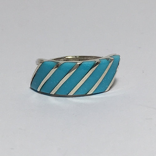 Zuni Sterling Silver Inlaid Ring