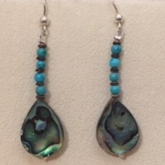 Navajo Abalone Shell Hook Earrings