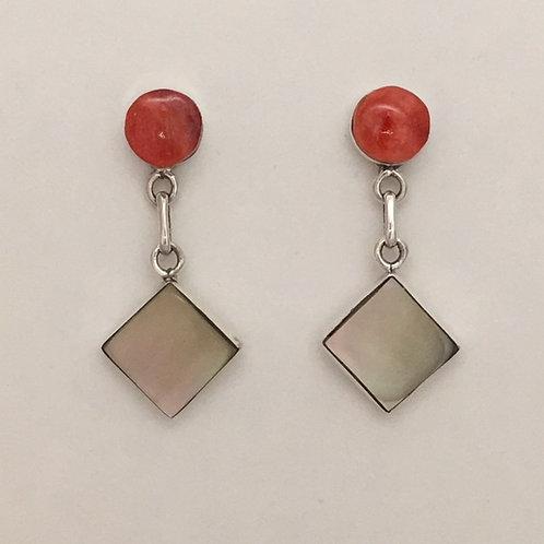 Zuni Sterling Silver Dangling Post Earrings
