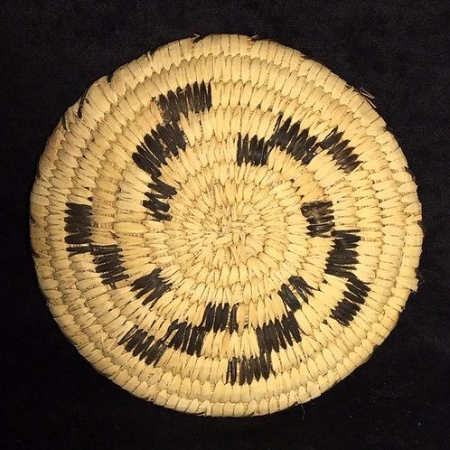 """Tohono O'odam Plate Shape Woven Vintage Basket 8"""""""
