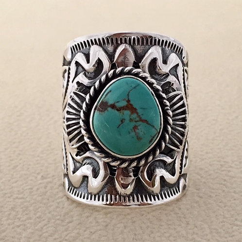 Navajo Sterling Silver Turquoise Stone Ring