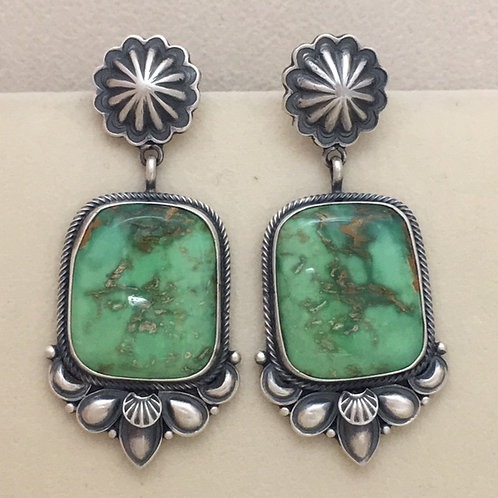 Navajo Sterling Silver Royston Turquoise Post Earrings