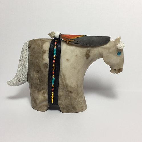 Gray Alabaster Horse Fetish Harold Davidson