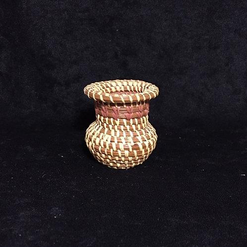 Coushatta Miniature Pine Needle Woven Basket