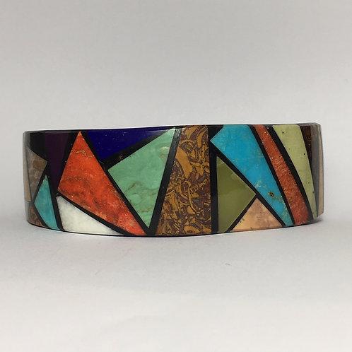 Santo Domingo Iron Wood Inlay Cuff Bracelet