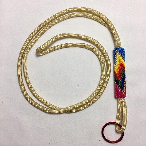 Navajo Hopi Handmade Beaded Nylon Cord Lanyard