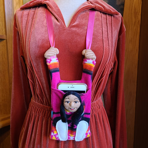 Pink Navajo Fleece Cell Phone Holder