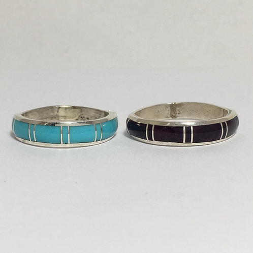 Zuni Turquoise/Spiny Inlaid Rings