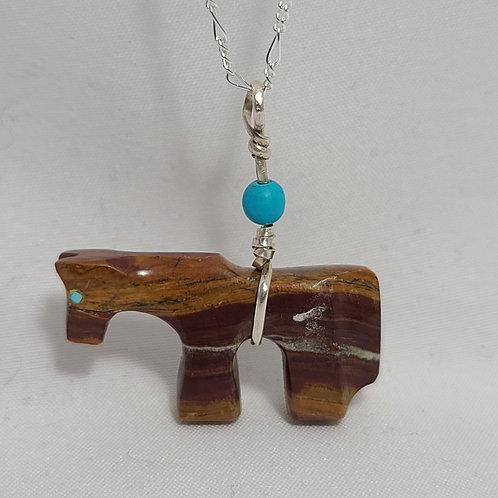 Zuni Horse Fetish Pendant