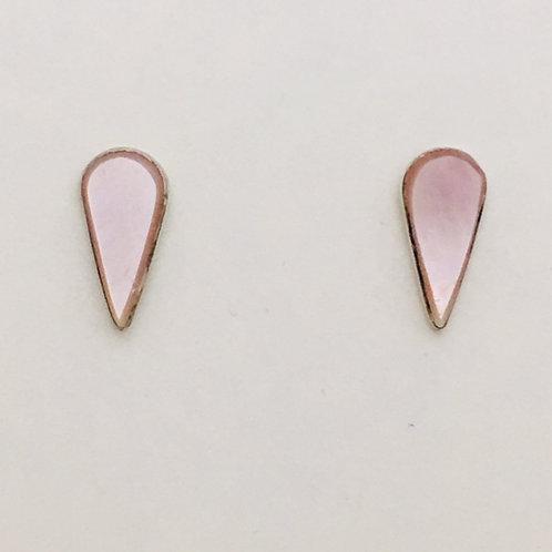 Zuni Sterling Silver Mother of Pearl Post Earrings