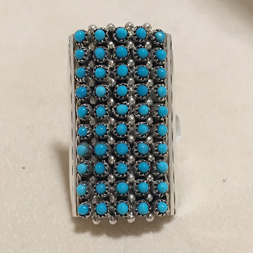 Zuni Sterling Silver Sleeping Beauty Turquoise Ring