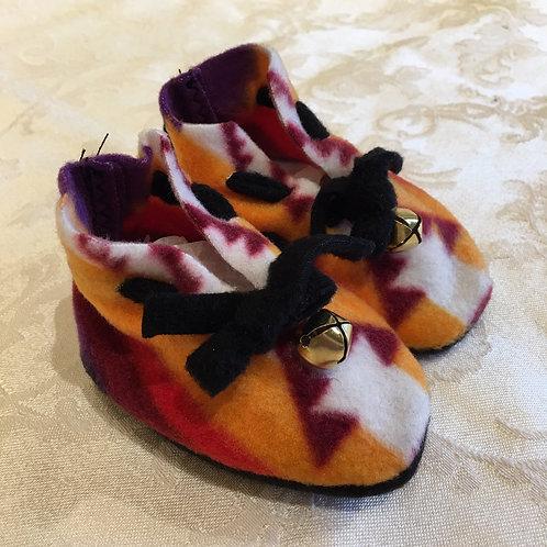 Navajo Handmade Gold Pendleton Baby Booties Socks