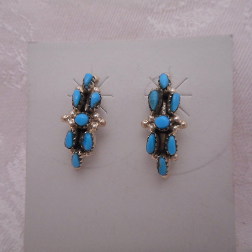 Sterling Silver Turquoise Post Earrings
