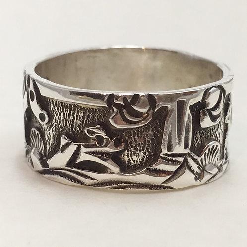 Navajo Sterling Silver Horse Ring