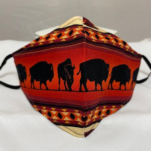 Handmade Buffalo Design Face Mask #2