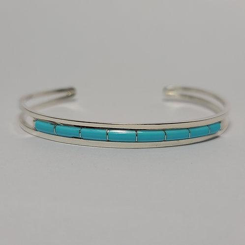 Zuni Inlaid Turquoise Bracelet