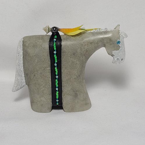 Navajo Carved Horse Alabaster Fetish Harold Davidson