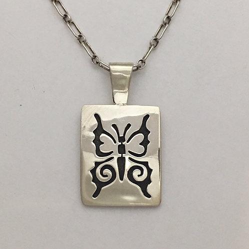 Hopi Sterling Silver Butterfly Pendant