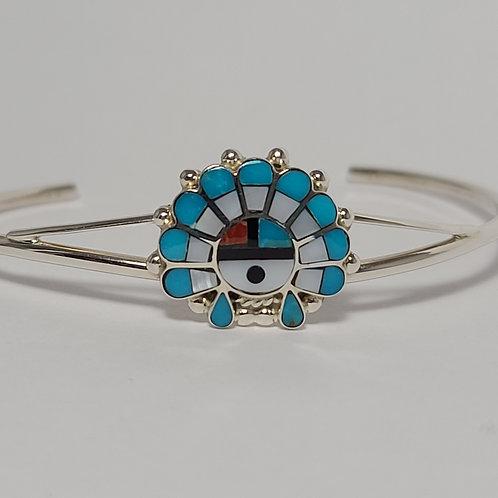 Zuni Sterling Silver Sunface Bracelet
