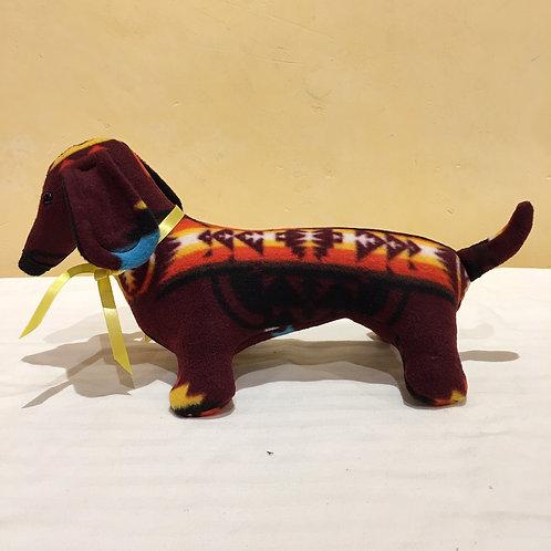 Navajo Handmade Burgundy Pendleton Dog Yllw Collar