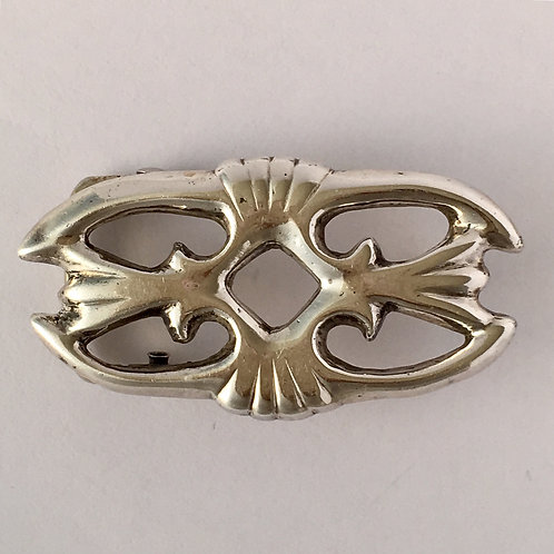 Navajo Sterling Silver Sand Cast Buckle