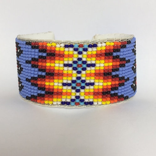 Navajo Native Beaded Cuff Bracelet