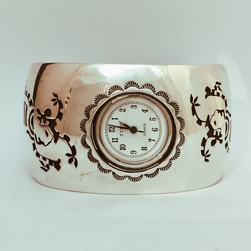 Hopi Sterling Silver Cuff Watch Bracelet