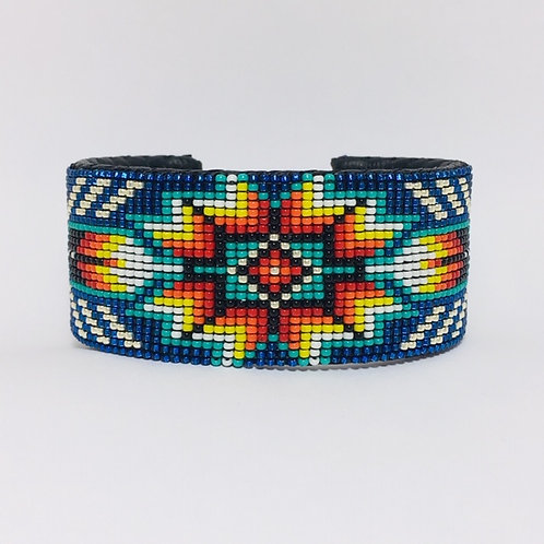 Navajo Feather Beaded Cuff Bracelet