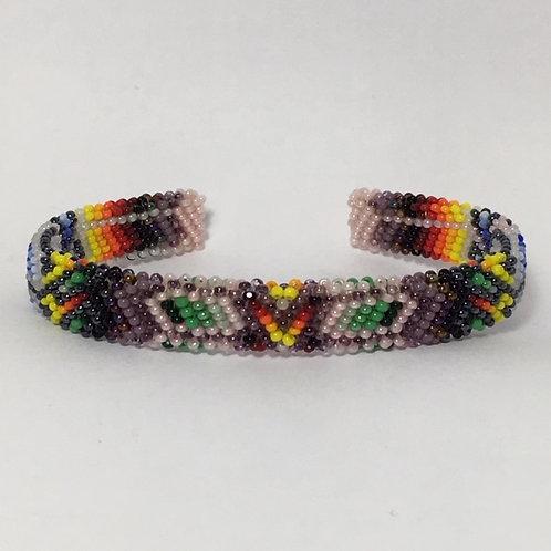 Navajo Full Beaded Design Cuff Bracelet