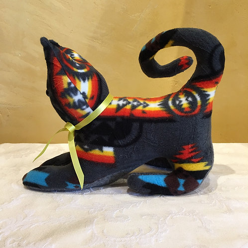 Navajo Handmade Charcoal Pendleton Cat Yllw Collar