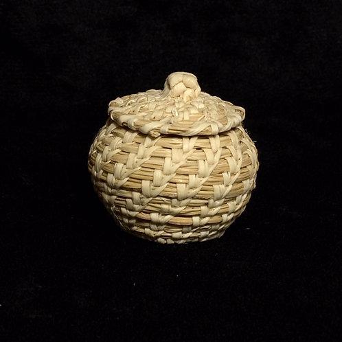 Tohono O'odam Miniature Woven Lid Basket