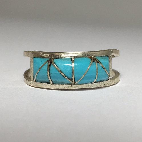 Zuni Turquoise Inlaid Ring