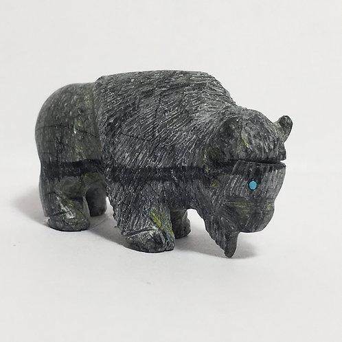Navajo Picasso Marble Buffalo Fetish Larry Cisco