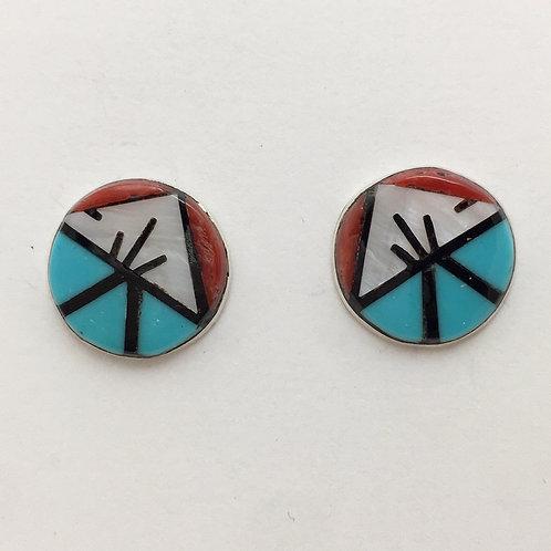 Zuni Inlaid Post Earrings