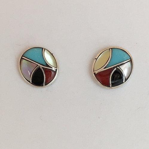 Inlaid Multistone Earrings