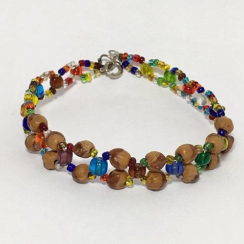 Navajo Cedar Juniper Berry Seeds Beaded Bracelet