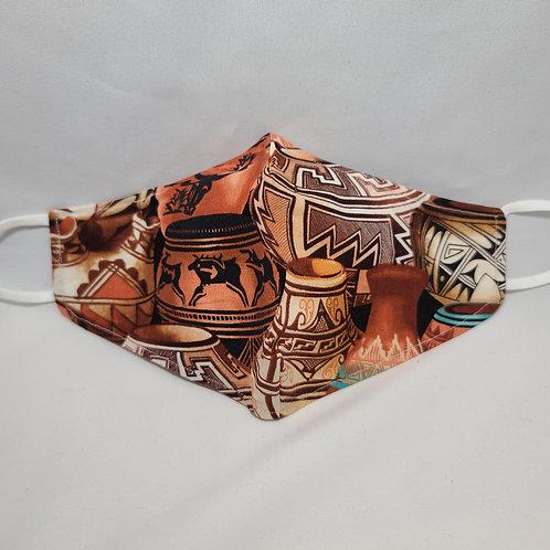 Handmade Pottery Design Face Mask #4