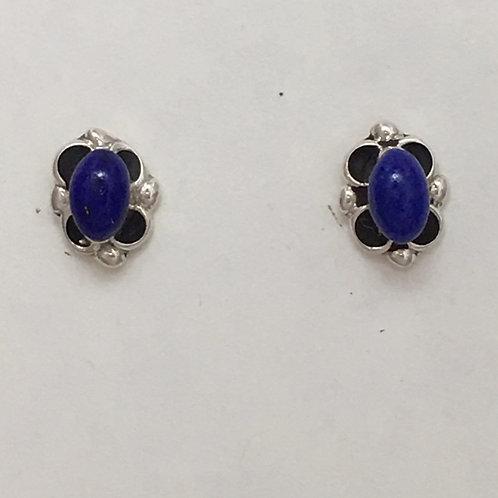 Zuni Sterling Silver Lapis Post Earrings