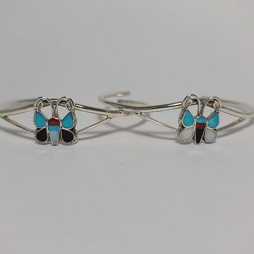 Zuni Multi-Stone Butterfly Bracelets