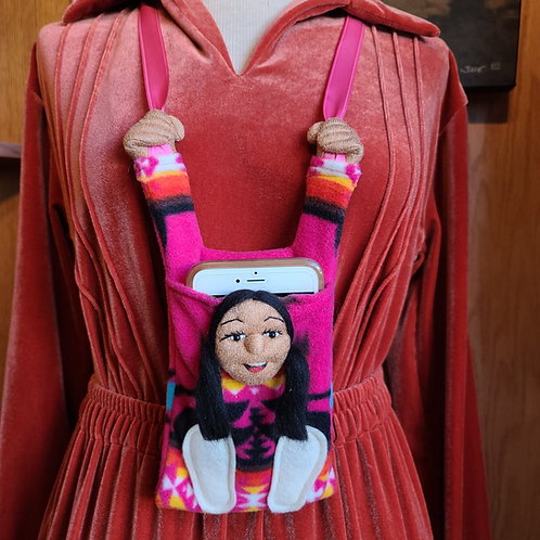 Pink Navajo Fleece Cell Phone Holder
