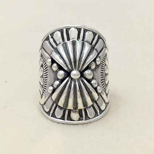 Navajo Sterling Silver Bow Design Ring