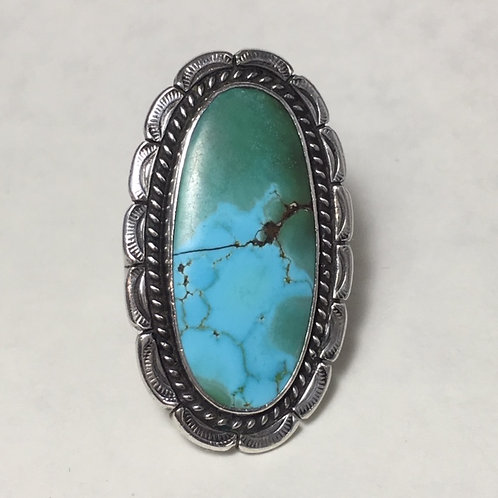 Navajo Vintage Sterling Silver Turquoise Ring