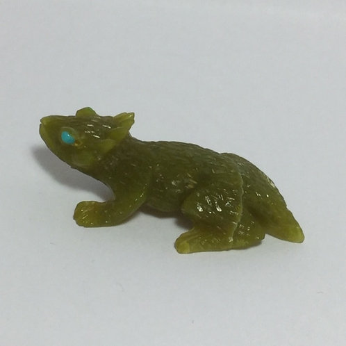 Ricolite Serpentine Horned Toad Fetish