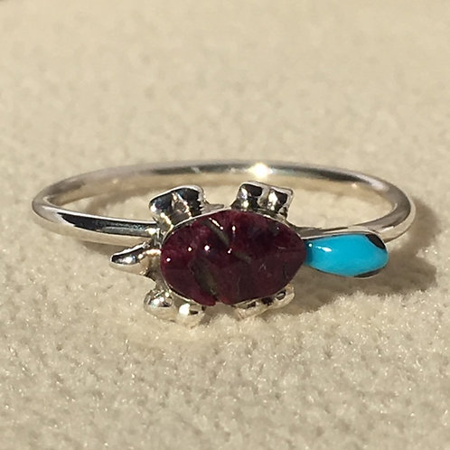 Zuni Sterling Silver Turtle Ring
