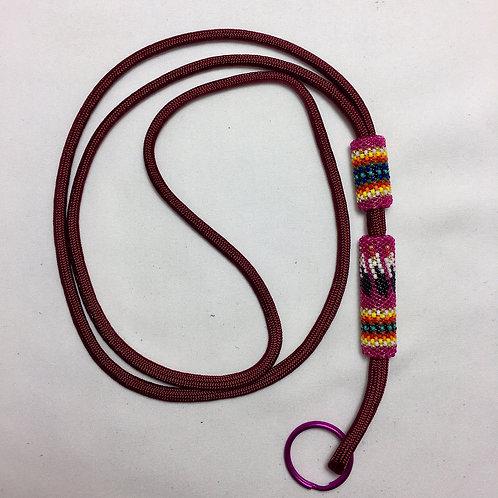 Navajo Hopi Handmade 2 Bead Nylon Cord Lanyard
