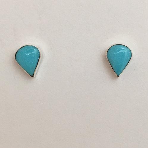 Turquoise Tear Drop Post Earrings